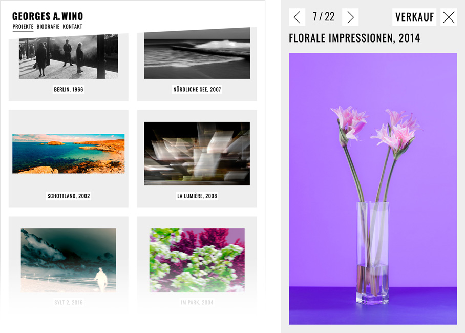 web and ux design, image zoom for photography